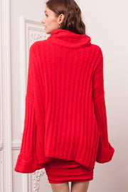 [DOUBLE ICON] FIND LOVE AGAIN SWEATER - RED