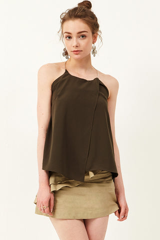 Rizza Halter Ring Neck Top