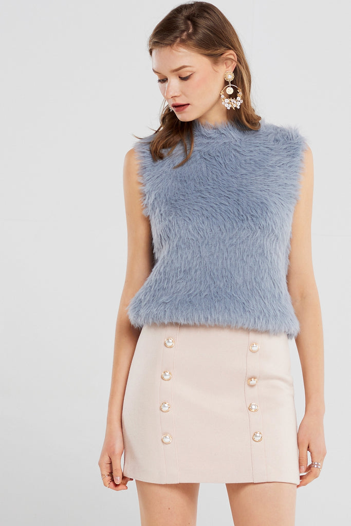 Stella Angora Sleeveless Top