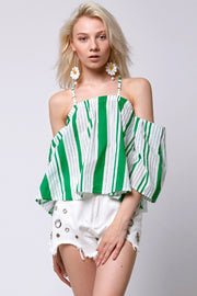storets.com Stella Stripe Off-the-Shoulder Top