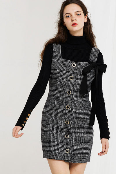 storets.com Amelia Pinafore Plaid Dress