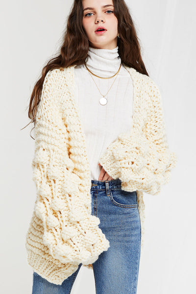 storets.com Aurelie Chunky Cable Knit Jacket-3 Colors