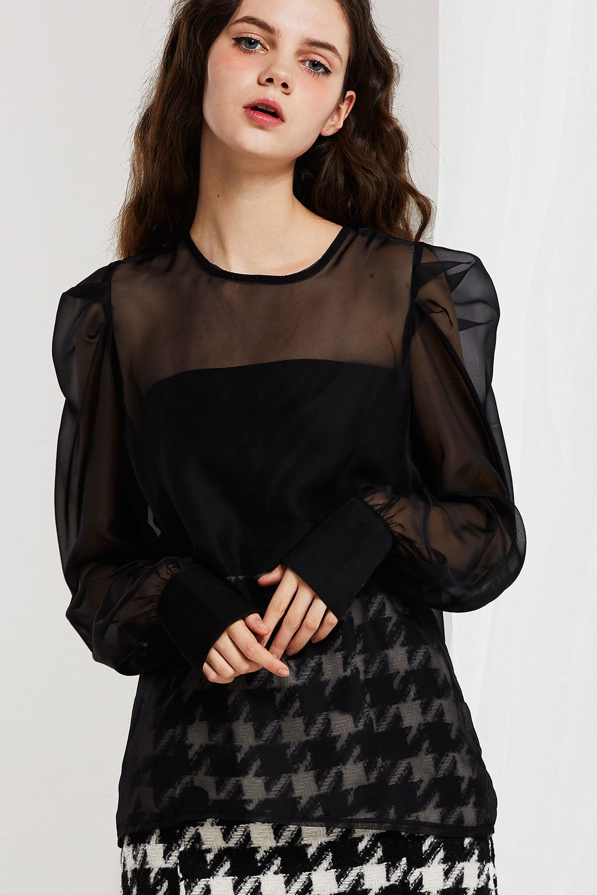 Cheryl Sheer Blouse