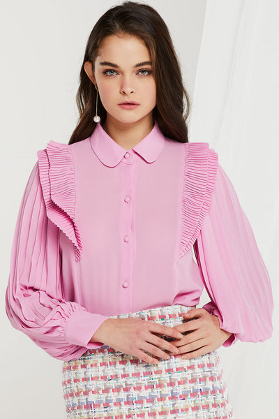 Chicago Accordion Pleats Blouse