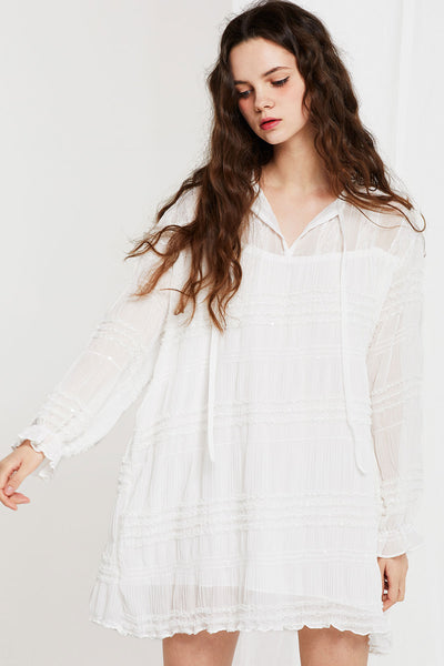 Elizabeth Crinkle Shift Dress