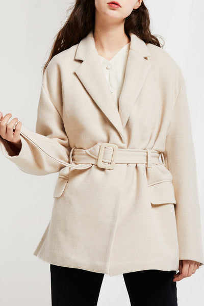 Hannah Coat with Sash Belt