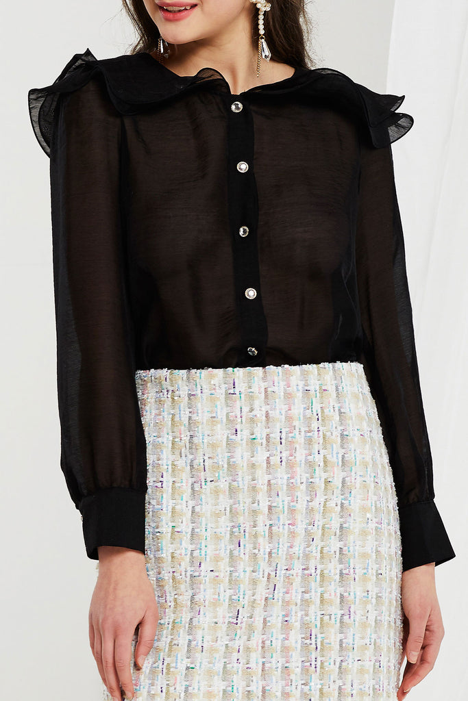 Kerry Wave Collared Blouse