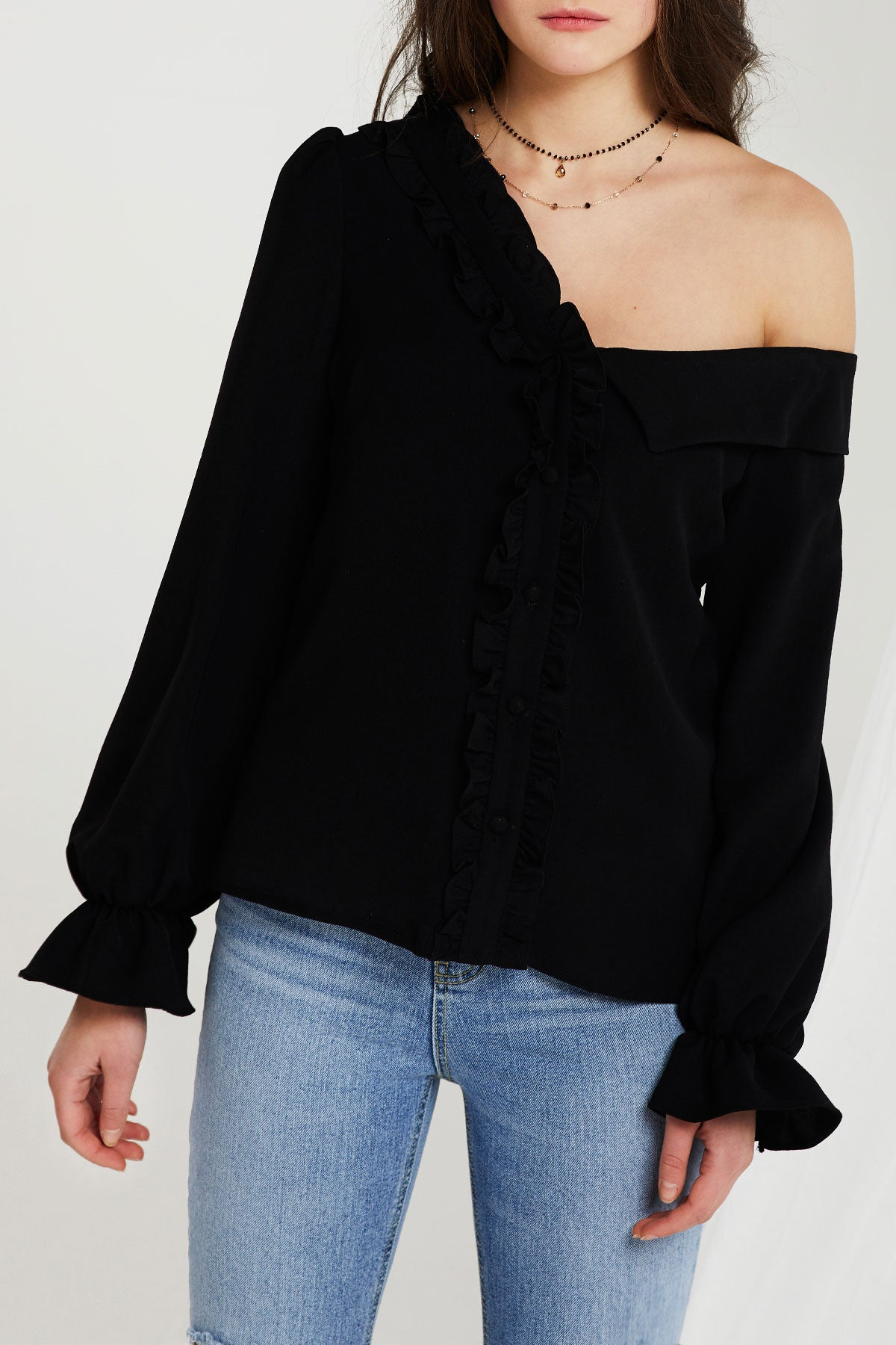 Lucca One Shoulder Blouse