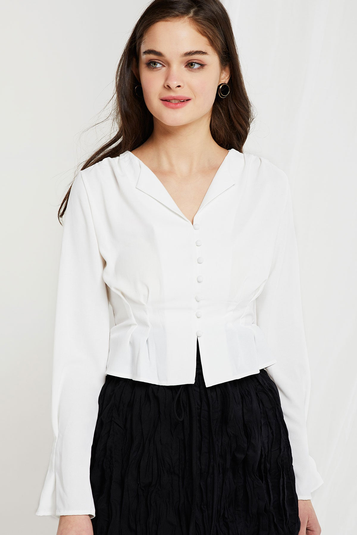 Micheal Pintuck Blouse