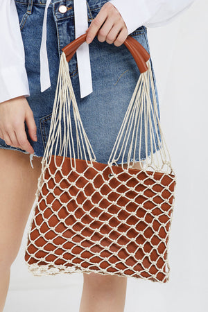 Net Shopper Bag w/ Clutch