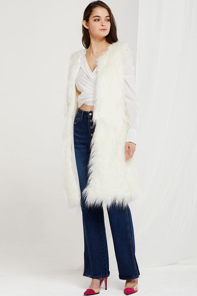 Reagan Faux Fur Long Vest