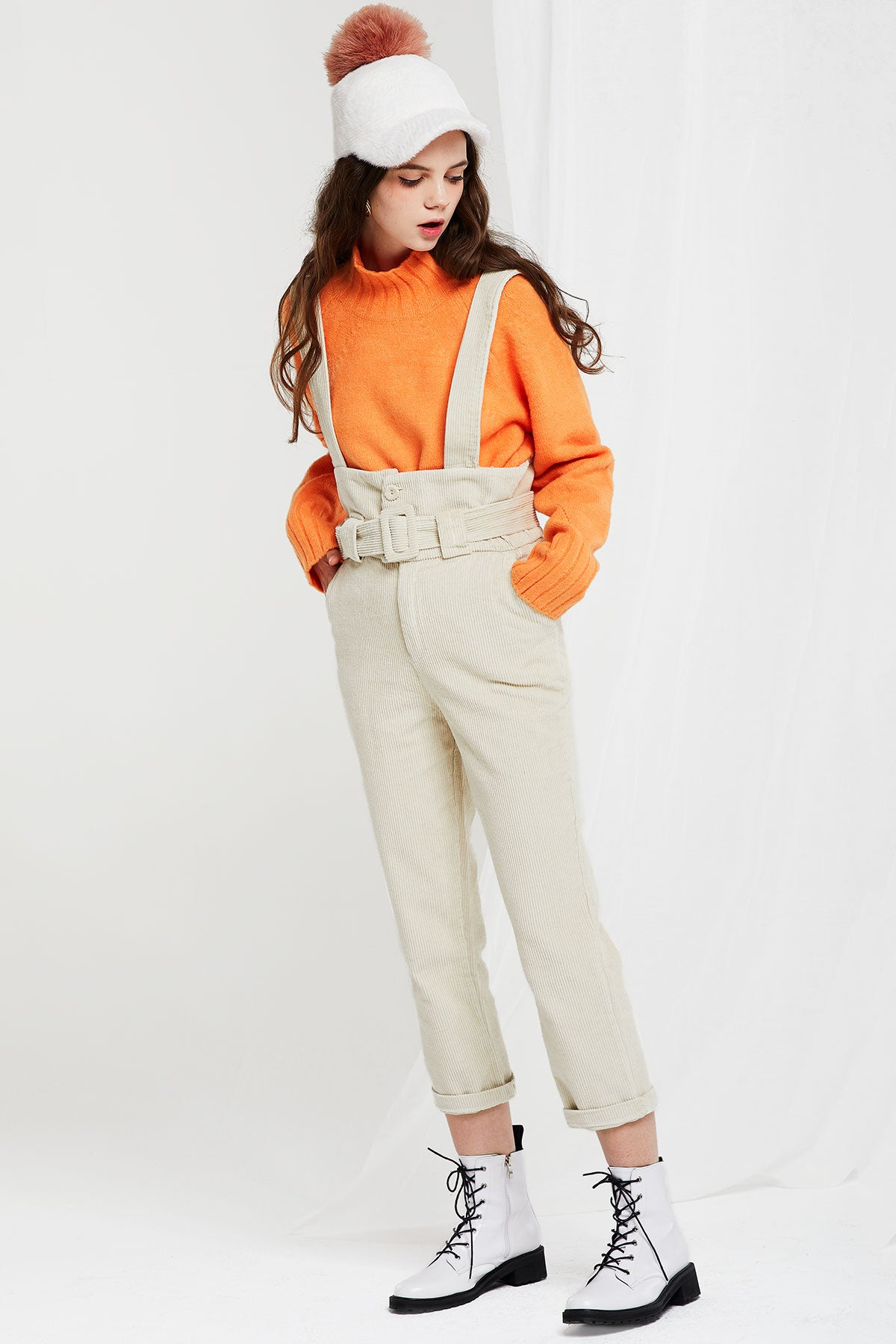 Sima Corduroy Belted Overall