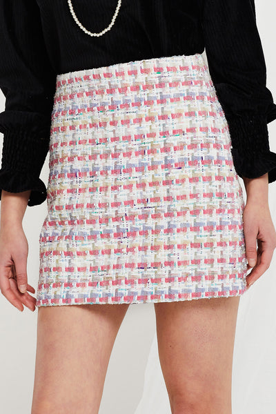 Teresa Tweed Mini Skirt