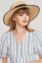 Banded Straw Hat