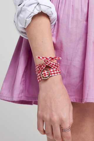 2-way Gingham Choker/Bracelet