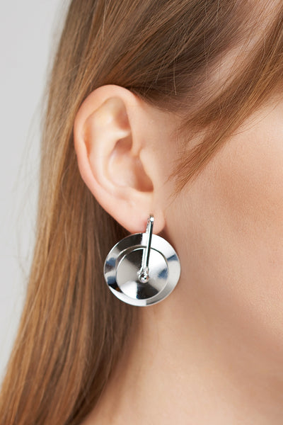 storets.com Silver Wheel Earrings