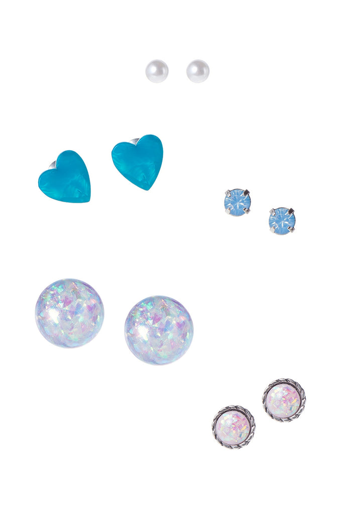 Blue Heart 5 Set Earrings