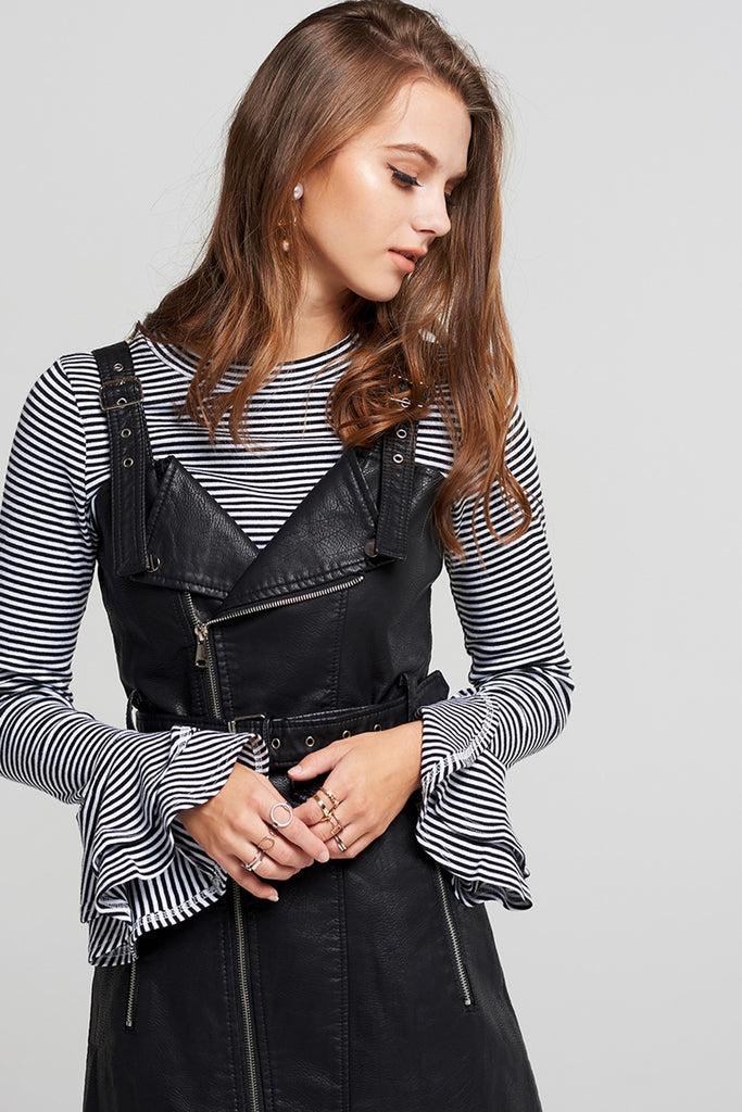 Tami Striped Ruffle Sleeve Top