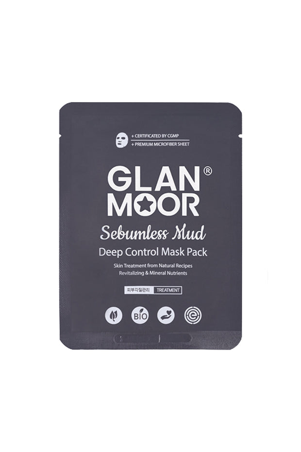 GLANMOOR Sebumless Mud Deep Control Mask Pack
