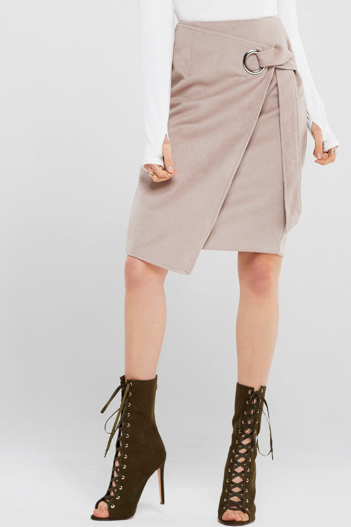 Tina Eyelet Wrap Skirt