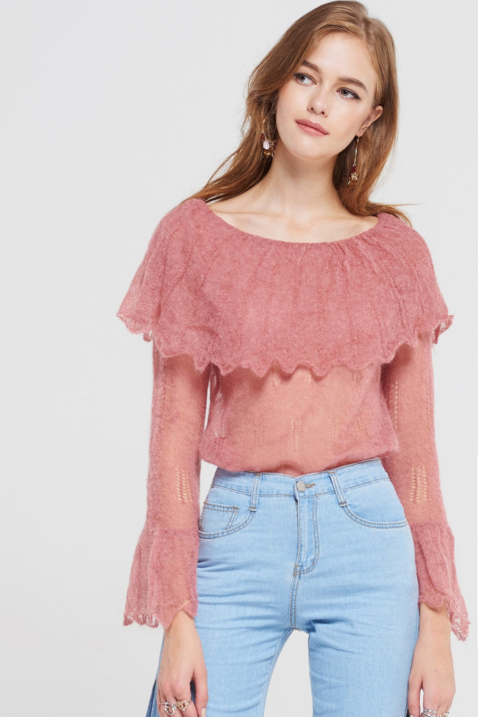 Linsy Knitted Cape Top