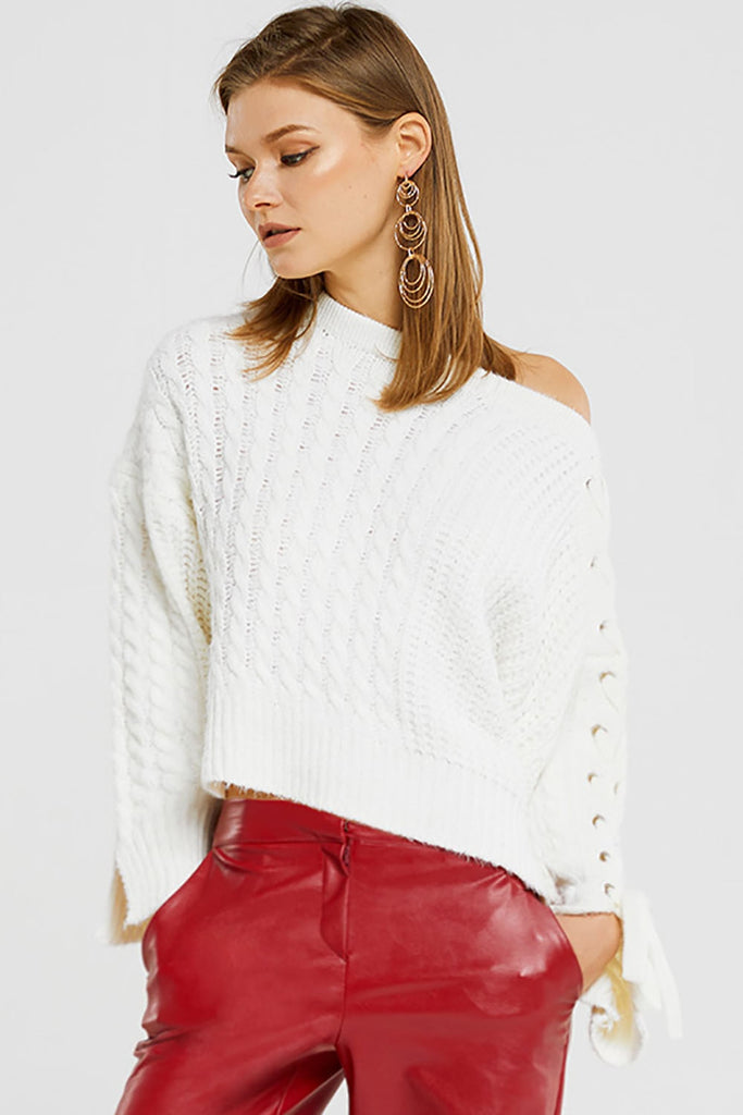 Zoey One Shoulder Strappy Pullover