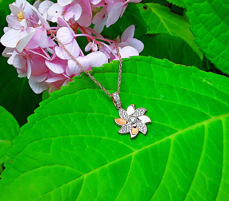 Sincerely Ginger Jewelry Turn Luck Around with Pinwheel Necklace