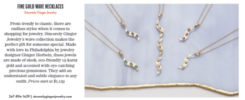 Sincerely Ginger Jewelry Philadelphia Magazine Holiday Gift Guide