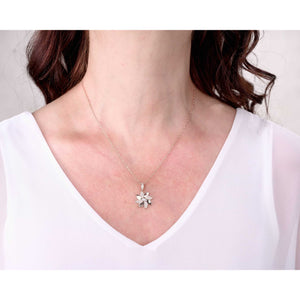 Sincerely Ginger Jewelry Pinwheel Necklace with Diamonds in 14-Karat Rose Gold