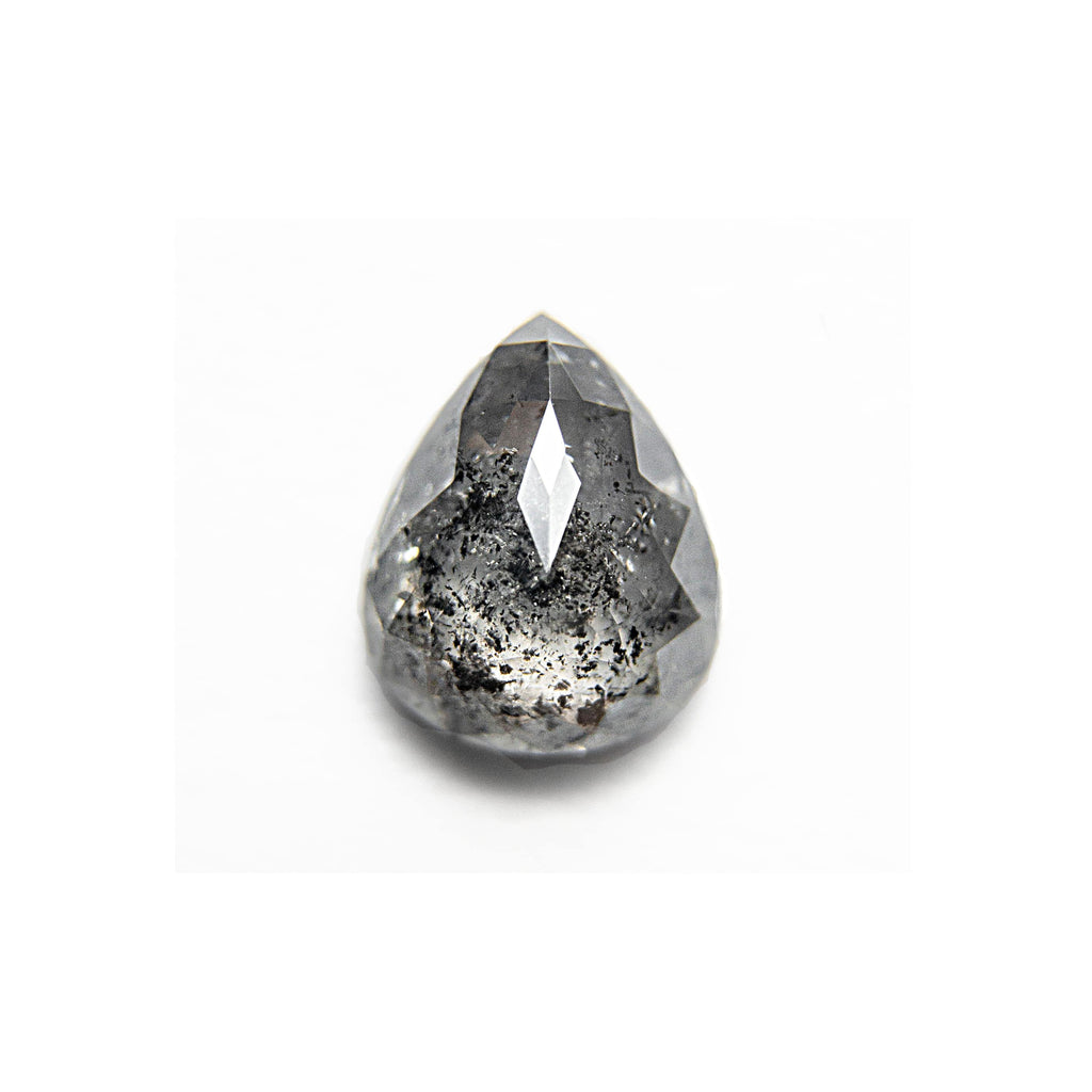 .58 Carat Salt and Pepper Pear Rosecut Diamond - For Custom Jewelry