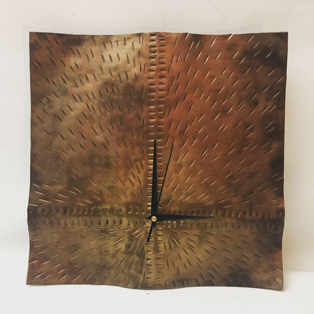 Off Center Square Wall Clock