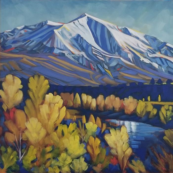 Mt Sopris Fall in Red, Yellow, and Blue