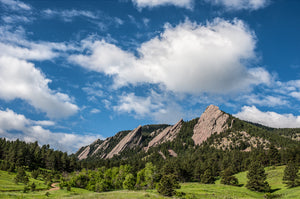 Flatirons In Clouds