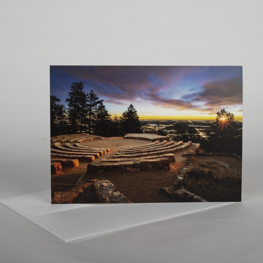 Amphitheater Sunrise Note Card