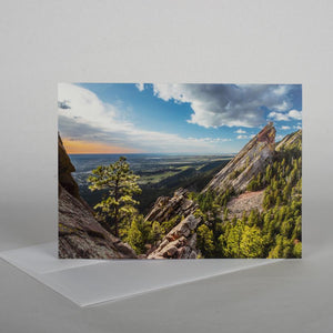 Boulder Flatiron Morning Note Card