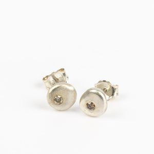 Diamond pebble earring