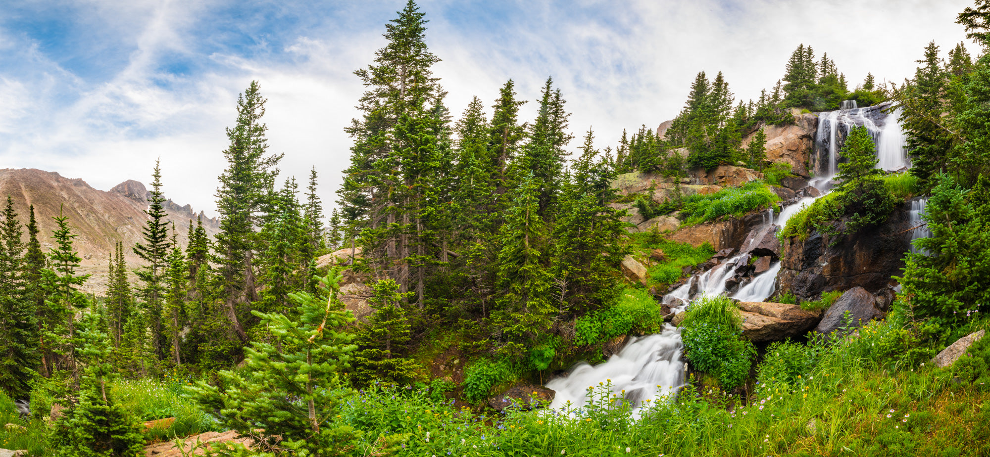 Shelf Falls to Longs Peak Pano