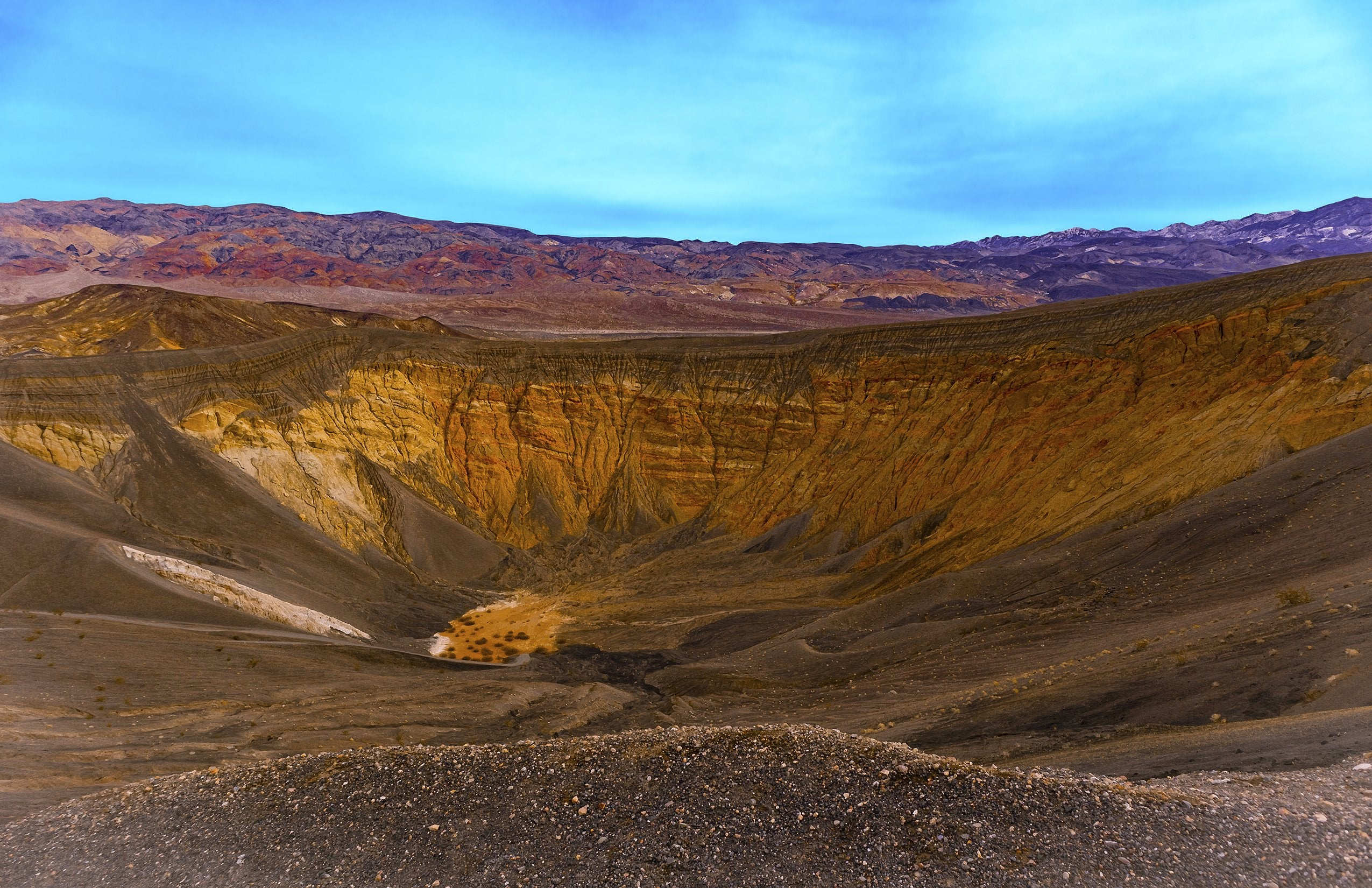 Ubehebe Volcano Crater, Morning