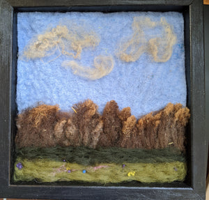 Felted Wool Landscape