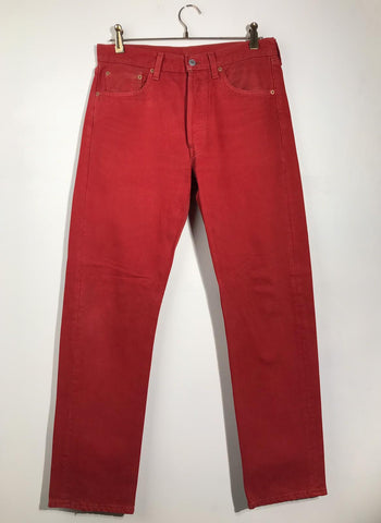 jean 501 rouge