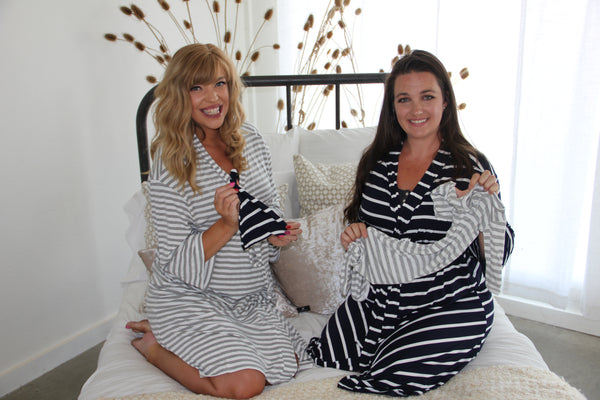 Striped Matching Robe & Swaddle