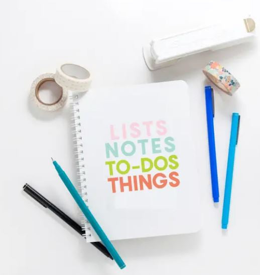 Lists, Notes, ToDos Journal