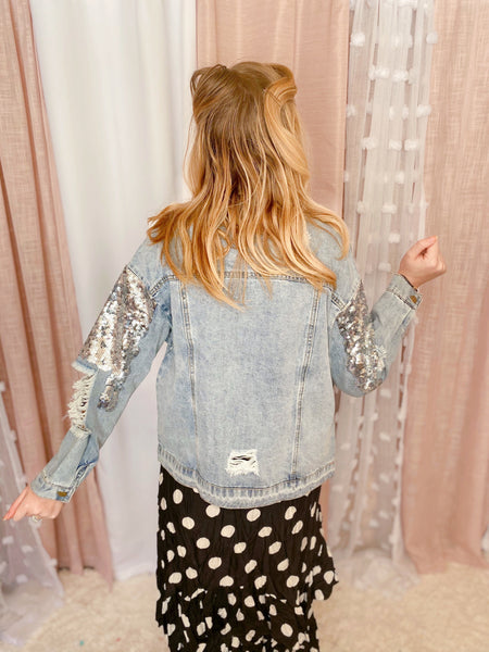 All That Glitters Jean Jacket