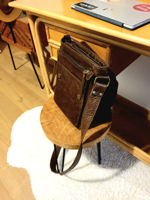 Vintage Brown Crossbody Bag