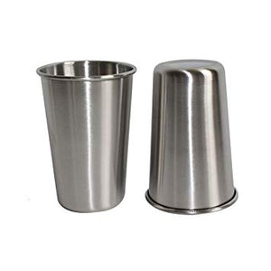 Stainless Steel Drinking Cups 500ml x 2