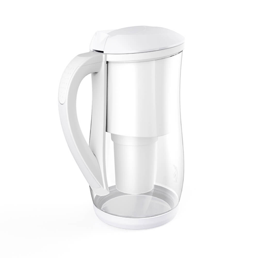Ecobud Gentoo Glass Alkaline Water Filter Jug 1.5L White 3