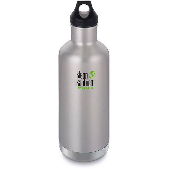 KLEAN KANTEEN Stainless Steel Bottle Insulated 946ml - Brushed Stainless