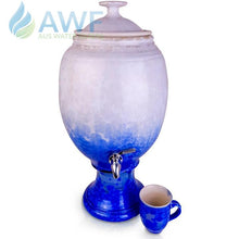 Peter Wallace Pottery Ceramic Water Filter Blue and White