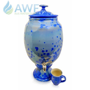 Peter Wallace Pottery Ceramic Water Filter Blue