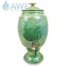 Peter Wallace Pottery Ceramic Water Filter Green